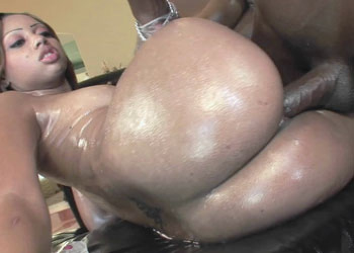 Angel is covered in oil and fucked